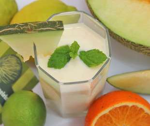 Smoothie de melão d'Almeirim e Lima